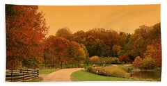 Autumn In The Park - Holmdel Park Hand Towel
