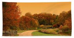Autumn In The Park - Holmdel Park Bath Towel