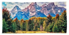 Autumn In The Tetons Hand Towel