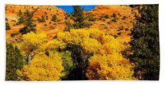 Hand Towel featuring the photograph Autumn In Zion by Greg Norrell