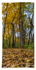 Bath Towel featuring the photograph Autumn Is Here by Sebastian Musial