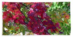 Autumn Leaves Reflections Hand Towel
