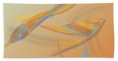 Bath Towel featuring the digital art Autumn Migration by Stephanie Grant