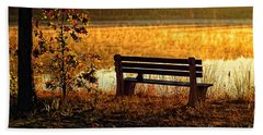 Autumn Morning At The Lake Bath Towel