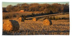 Autumn Morning Bales Hand Towel