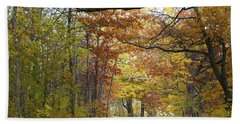 Autumn Nature Trail Bath Towel