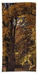Hand Towel featuring the photograph Autumn Nocturne by Diane Schuster
