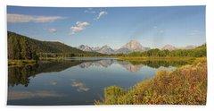 Autumn On Oxbow Bend - Mount Moran - Grand Teton National Park Wyoming Bath Towel