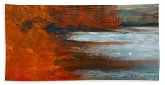 Bath Towel featuring the painting Autumn On The Sound by Jani Freimann