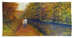 Autumn On The Towpath Hand Towel
