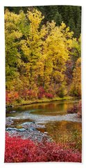 Autumn River Bath Towel