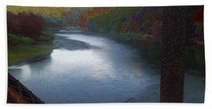 Autumn River Valley  Bath Towel