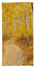 Autumn Road Bath Towel