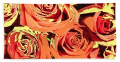Hand Towel featuring the photograph Autumn Roses On Your Wall by Joseph Baril