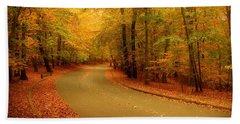 Autumn Serenity - Holmdel Park  Hand Towel