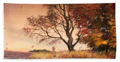 Autumn Simphony In France  Bath Towel