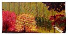 Autumn Slopes Bath Towel by Jason Williamson