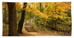 Autumn Stairs Hand Towel