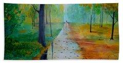 Autumn Stroll Hand Towel by Gary Smith