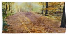 Autumn Sunday Morning Bath Towel by Martin Howard