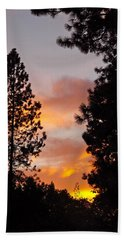 Autumn Sunset Bath Towel