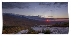 Autumn Sunset Over Sugarloaf Mountain Hand Towel