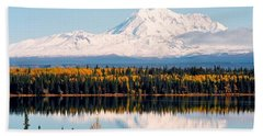 Autumn View Of Mt. Drum - Alaska Bath Towel