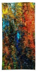 Hand Towel featuring the digital art Autumn Visions Remembered by David Lane