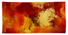 Autumn's Abstract Beauty Hand Towel