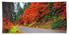 Bath Towel featuring the photograph Autumn's Glory by Lynn Bauer