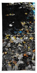 Bath Towel featuring the photograph Autumn's Last Color by Photographic Arts And Design Studio