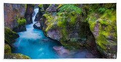 Avalanche Creek Gorge Bath Towel