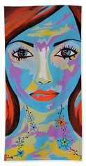 Avani - Contemporary Woman Art Hand Towel
