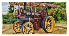 Aveling And Porter Showmans Tractor Hand Towel