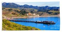 Avila Beach California Fishing Pier Bath Towel