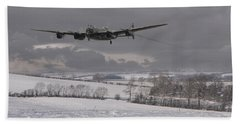 Avro Lancaster - Limping Home Bath Towel