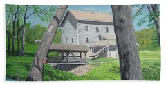 Award-winning Painting Of Beckman's Mill Bath Towel by Norm Starks