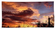 Az Monsoon Sunset Hand Towel by Elaine Malott