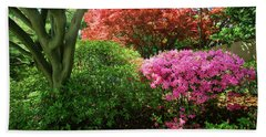 Azaleas In Spring In National Hand Towel