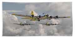 B17 486th Bomb Group Hand Towel