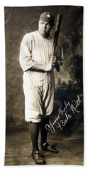 Babe Ruth 1920 Hand Towel by Mountain Dreams