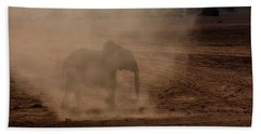 Bath Towel featuring the photograph Baby Elephant  by Amanda Stadther