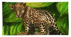 Baby Jaguar Hand Towel