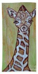 Baby Longneck Giraffe Hand Towel