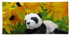 Baby Panda Under The Golden Sky Bath Towel