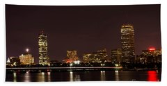 Bath Towel featuring the photograph Back Bay At Night by Mike Ste Marie