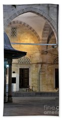 Bath Towel featuring the photograph Back Lit Interior Of Mosque  by Imran Ahmed
