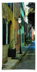 Bath Towel featuring the photograph Back Street In Charleston by Rodney Lee Williams
