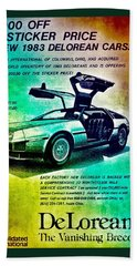 Back To The Delorean Hand Towel