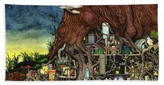Back To Your Roots Hand Towel by Colin Thompson